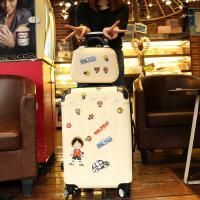韩版行李箱小清新拉杆箱万向轮密码旅行箱皮箱子男女个性潮大学生