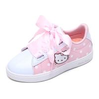 HELLO KITTY凯蒂猫童鞋女童新款小白鞋女孩白板鞋