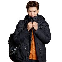 秋冬新品冲锋衣男三合一两件套 防风防水透气夹克