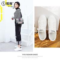 【毅雅】小白鞋女2018春季新款 平底舒适 学生韩版系带原宿女 YD8TOB702