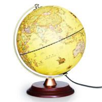 仿古地球仪25cm高清led台灯 办公室书房摆件学生用教学儿童礼物