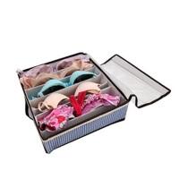 友纳 高档格子透明有盖七格文胸收纳盒