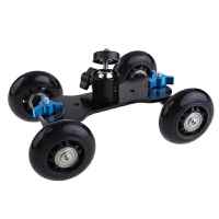 单反相机小车摄影迷你轨道车 5D2摄像摄影小推车桌面滑轨车+云台