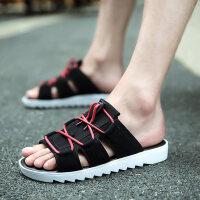 男鞋夏季拖鞋男一字拖个性韩版潮托室外沙滩凉鞋防滑人字拖凉拖鞋