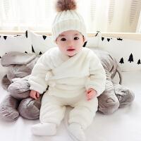 女婴儿衣服秋冬装外套装男宝宝冬季0岁1棉衣外出服