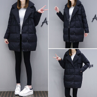 棉袄女装新款韩版百搭冬季chic羽绒中长款棉衣外套学生潮