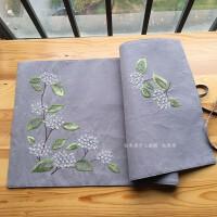 手工diy刺绣餐桌布抱枕套材料包刺绣套件