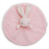 七夕礼物 新生儿宝宝安抚巾 婴儿睡觉抱枕安抚玩偶口水巾 儿童毛绒玩具兔子手抓巾可入口 粉色兔子