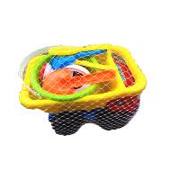 儿童沙滩玩具车套装铲子玩沙子挖沙汽车套装沙铲子挖沙工具 9件套套装