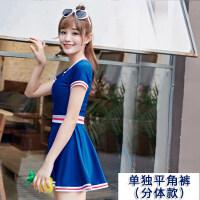 游泳衣女连体保守显瘦遮肚性感韩国新款温泉短袖裙式女士游泳装女