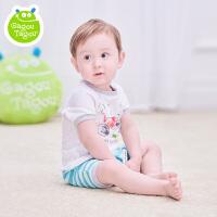 【每满200减100】宝宝短袖裤卡通套装男童婴儿夏装纯棉透气休闲衣服