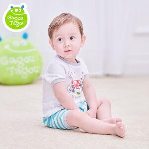 【每满100减50】宝宝短袖裤卡通套装男童婴儿夏装纯棉透气休闲衣服