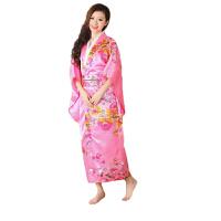 秋冬季长袖时尚表演服装和服民族舞台表演服装写真日本女士正装日本武士服装服饰 休闲衣裤