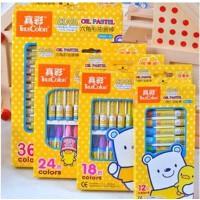 真彩2966A-18酷丫 儿童18色 六角形油画棒 幼儿 无毒蜡笔套装