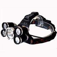 强光5颗LED头灯大功率户外照明亮夜钓鱼灯充电T6头灯