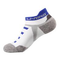 李宁LINING羽毛球袜子 AWSK153 男子休闲运动低跟船袜