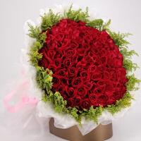 520情人节红玫瑰礼盒全国送花南京同城鲜花速递武汉合肥西安济南杭州三八妇女节