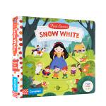 英文原版进口绘本 Snow White 白雪公主和七个小矮人Busy First Stories 系列幼儿益智抽拉玩具