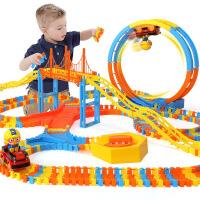 啵乐乐玩具轨道车小火车风火轮电动过山车大号套装 3-8岁男孩礼物