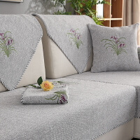 夏季棉麻沙发垫四季布艺坐垫定做现代通用老粗布中式沙发巾沙发套