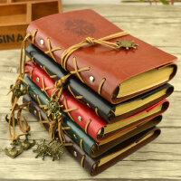 绑带diy旅行日记本欧式复古空白手绘本牛皮纸本子活页笔记本文具