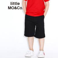 littlemoco纯色星星绣花中长款纯棉牛仔短裤KA172SOT403