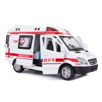 儿童玩具车仿真120救护车玩具合金110警车车模小汽车男孩汽车模型 120侧开门救护车 盒装
