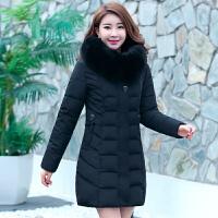 妈妈棉衣中老年女装冬装中长款羽绒中年女新款外套40岁50