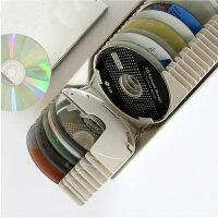 ACTTO光盘盒高档CD盒大容量DVD光碟收纳盒储藏箱创意标签检索50片