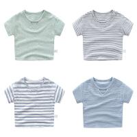 婴儿亲子装男女宝宝T恤薄款短袖上衣7个月春夏款打底衫潮外出衣服