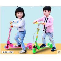 小童3轮滑轮车童车铝合金扶手闪光折叠二轮滑滑车加宽宝宝儿童滑板车三轮