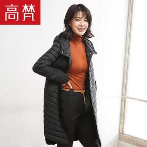 高梵休闲时尚潮流羽绒服女 新款气质百搭纯色轻薄个性冬装女
