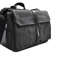 单反包 相机包 80D 70D 77D 800D 5D4 5D3单反包帆布包防水包 灰黑色