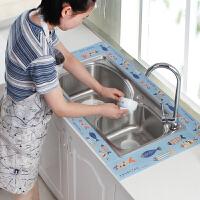 厨房台面吸水水槽贴洗菜盆洗碗池水池防水贴燃气灶台面吸湿贴自粘