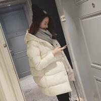 韩观 冬季外套女韩版保暖棉衣女中长款学生宽松棉袄bf原宿加厚羽绒 黑色 棉衣