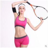 拼色包边休闲内衣女士跑步防震速干瑜伽背心减震高强度健身背心式文胸运动内衣