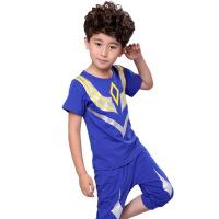男童套装超人童装儿童T恤两件套奥特曼衣服0-1-2-3-4-5。