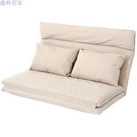 日式懒人沙发榻榻米折叠小户型单双人沙发床无腿地板沙发简易床