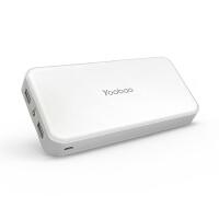 【包邮】羽博 20000毫安移动电源 充电宝 双USB输出 手电筒 苹果 三星 华为 小米 魅族 荣耀 OPPO VI
