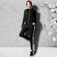 跑步服装女套装 运动速干显瘦出汗衣夏瑜伽发汗宽松韩版2018新款