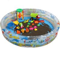 玩具沙池套装家庭儿童沙滩玩具池充气沙池泳池水池球池家用