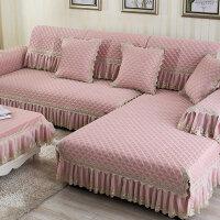 欧式沙发套罩包四季客厅防滑三人沙发盖布通用型夏天通用订做垫背紫色中式床罩凉席定定制 清水芙蓉 粉色