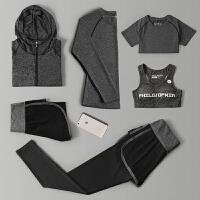 秋冬款宽松速干专业运动健身房三件套装女跑步长袖外套瑜伽服