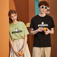 [直降]唐狮情侣装夏装新款短袖T恤卡通联名韩版宽松男女打底上衣潮