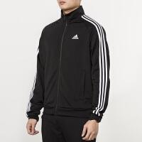 #超品日满200减60#Adidas阿迪达斯男装外套 2018新款运动休闲三条纹夹克 BR1024