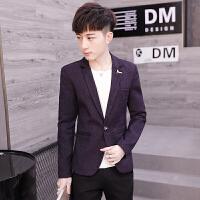 男士西服青年韩版潮流休闲修身外套小西装单西上衣春秋季新款
