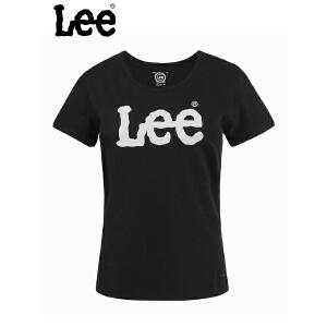 Lee 【断码】商场同款夏季新款女士纯棉印花短袖T恤L16348V41K11