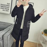 男士冬季新款青年中长款棉衣男款棉袄大码韩版衣服