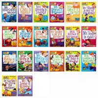新版 美国小学阅读教材书My Weird School 21本盒装 儿童英文原版桥梁书 我那奇怪的学校 疯狂学校 非常好的桥梁章节书 送音频