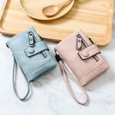 钱包女短款小清新户外韩版学生个性折叠多功能钱夹零钱包